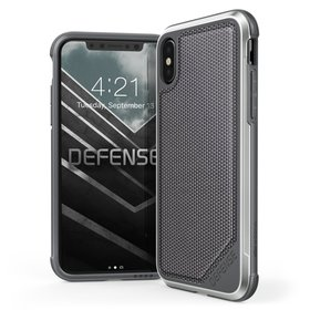 (EOL) X-Doria Defense Lux Etui Aluminiowe do iPhone Xs / X (Ballistic Nylon) (Drop Test 3m)