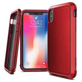 X-Doria Defense Lux Etui Aluminiowe iPhone Xs / X (Red) (Drop Test 3m)