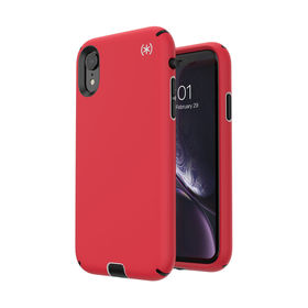 Speck Presidio Sport Etui Obudowa do iPhone Xr (Heartrate Red/Sidewalk Grey/Black)