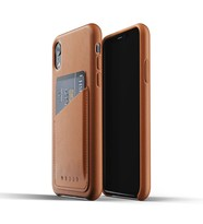 Mujjo Full Leather Wallet Etui Skórzane Na Karty iPhone Xr (Tan)