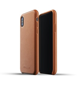 Mujjo Full Leather Case Etui Skórzane do iPhone Xs / X (Tan)
