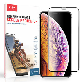 Zizo Full Glue Curved Glass Szkło Hartowane Na Cały Ekran 9H 0,33mm do iPhone 11 Pro Max / iPhone Xs Max (Black)