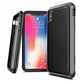 X-Doria Defense Lux Etui Aluminiowe do iPhone Xs / X (Black Carbon Fiber) (Drop Test 3m)
