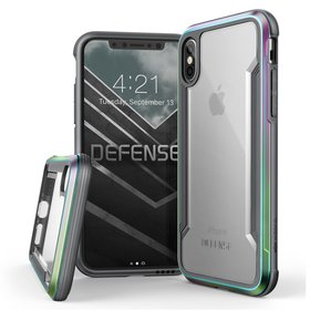 X-Doria Defense Shield Etui Aluminiowe do iPhone Xs / X (Iridescent)
