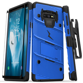 Zizo Bolt Cover Etui Pancerne do Samsung Galaxy Note 9 (Blue/Black) + Szkło Hartowane Na Ekran