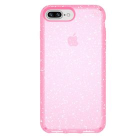 Speck Presidio Clear With Glitter Etui Brokatowe do iPhone 8 Plus / 7 Plus / 6S Plus / 6 Plus (Bella Pink With Gold Glitter)