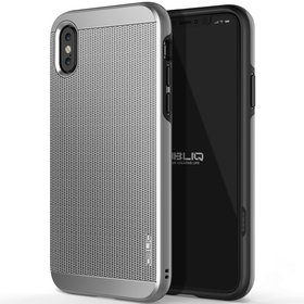 Obliq Slim Meta Etui Obudowa do iPhone Xs / X (Satin Silver)