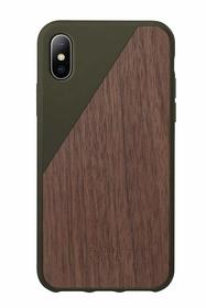 Native Union Clic Wooden Etui Drewniane do iPhone Xs / X (Olive)