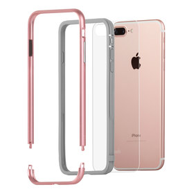 Moshi Luxe Etui z Aluminiową Ramką do iPhone 8 Plus / 7 Plus (Rose Gold)