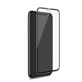 Puro Premium Full Edge Szkło Hartowane 9H Na Cały Ekran do iPhone 11 Pro Max / iPhone Xs Max (Czarna Ramka)