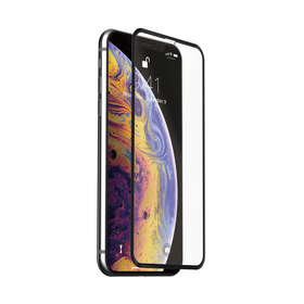 Just Mobile Xkin 3D Tempered Glass Screen Protector Szkło Hartowane do iPhone Xs / X (Transparent/Black)