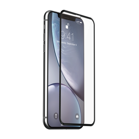 Just Mobile Xkin 3D Tempered Glass Screen Protector Szkło Hartowane do iPhone Xr (Transparent/Black)