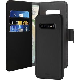 Puro Wallet Detachable Etui Portfel 2w1 Samsung Galaxy S10+ Plus (Czarny)