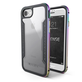 (EOL) X-Doria Defense Shield Etui Aluminiowe do iPhone 8 / 7 (Iridescence)