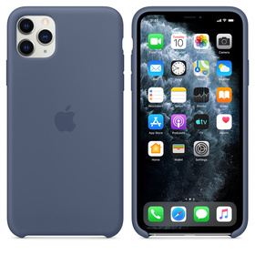 Apple Silicone Case Oryginalne Silikonowe Etui do iPhone 11 Pro Max (Nordycki Błękit)