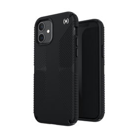 Speck Presidio2 Grip Etui Ochronne do iPhone 12 Pro / iPhone 12 z Powłoką Microban (Black/Black/White)