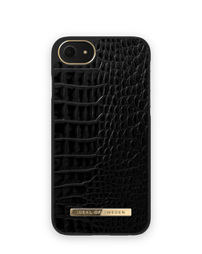iDeal of Sweden Atelier Etui Obudowa do iPhone SE (2020) / iPhone 8 / iPhone 7 / iPhone 6s / iPhone 6 (Neo Noir Croco)