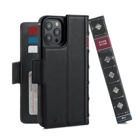 Twelve South BookBook Etui Skórzane z Klapką do iPhone 12 Pro Max Kompatybilne z MagSafe (Black)