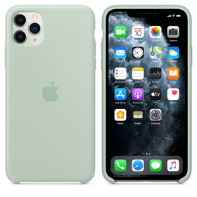 Apple Silicone Case Oryginalne Silikonowe Etui do iPhone 11 Pro Max (Akwamaryna)