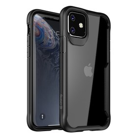 Crong Hybrid Clear Cover Etui Obudowa do iPhone 11 (Black)