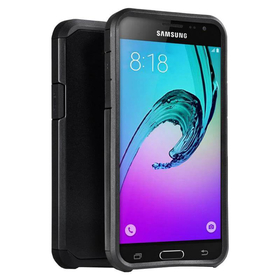 Zizo Slim Hybrid Cover Etui Obudowa do Samsung Galaxy S7 Edge (Black/Black)