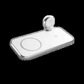 Zens Aluminium 4w1 MagSafe Wireless Charger Ładowarka Bezprzewodowa 45 W (White)