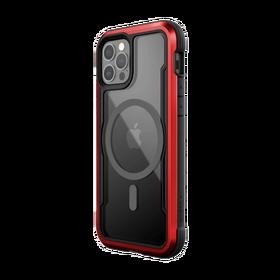 Raptic Shield Pro Magnet Etui Aluminiowe do iPhone 12 Pro / iPhone 12 z MagSafe (Drop Test 4 m) (Red)