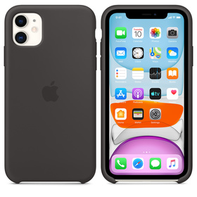 Apple Silicone Case MWVU2ZM/A Etui Silikonowe do iPhone 11 (Czarny)