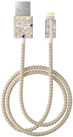 iDeal of Sweden Fashion Cable Przewód USB ze Złączem Lightning MFI (1 m) (Greige Terazzo)