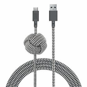Native Union Night Cable Kabel USB ze Złączem USB-C z Węzłem 3m (Zebra)