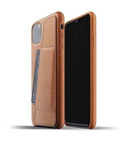 Mujjo Full Leather Wallet Case Etui Skórzane Na Karty do iPhone 11 Pro Max (Tan)
