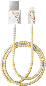 iDeal of Sweden Fashion Cable Przewód USB ze Złączem Lightning MFI (1 m) (Carrara Gold)