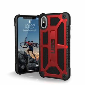 Urban Armor Gear Monarch Etui Pancerne do iPhone Xs / iPhone X (Crimson)