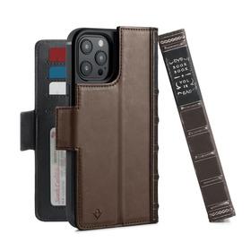 Twelve South BookBook Etui Skórzane z Klapką do iPhone 12 Pro Max Kompatybilne z MagSafe (Brown)
