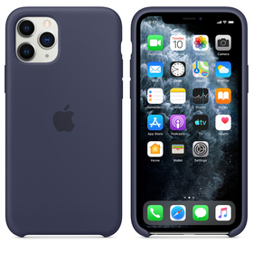 Apple Silicone Case MWYJ2ZM/A Etui Silikonowe do iPhone 11 Pro (Nocny Błękit)