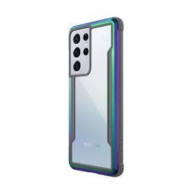 Raptic Shield Etui Aluminiowe do Samsung Galaxy S21 Ultra (Antimicrobial Protection) (Iridescent)