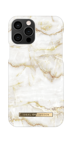 iDeal of Sweden Fashion Case Etui Obudowa do iPhone 12 Pro / iPhone 12 (Golden Pearl Marble)