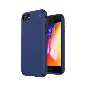 Speck Presidio2 Pro Etui Ochronne do iPhone SE (2020) / iPhone 8 / iPhone 7 z Powłoką Microban (Coastal Blue/Black/Storm Grey)