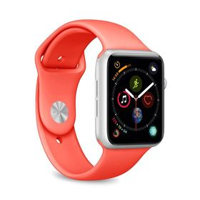 (EOL) Puro Icon Apple Watch Band Elastyczny Pasek Sportowy do Apple Watch 5 (44mm) / Apple Watch 4 (44mm) / Apple Watch 3 (42mm) / Apple Watch 2 (42mm) / Apple Watch 1 (42mm) (S/M & M/L) (Living Coral)