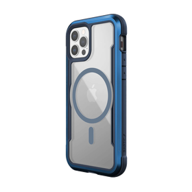 Raptic Shield Pro Magnet Etui Aluminiowe do iPhone 12 Pro / iPhone 12 z MagSafe (Drop Test 4 m) (Blue)