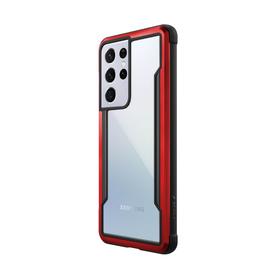 Raptic Shield Etui Aluminiowe do Samsung Galaxy S21 Ultra (Antimicrobial Protection) (Red)