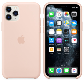 Apple Silicone Case Oryginalne Silikonowe Etui do iPhone 11 Pro (Piaskowy Róż)