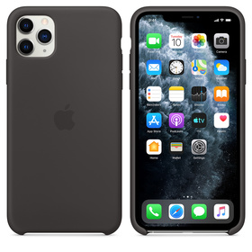 Apple Silicone Case MX002ZM/A Etui Silikonowe do iPhone 11 Pro Max (Czarny)