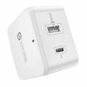 Syncwire Wall Charger PD Ładowarka Sieciowa QC 3.0 2-Porty USB / USB-C (White)