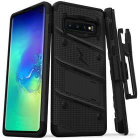 Zizo Bolt Cover Etui Pancerne do Samsung Galaxy S10 (Black/Black)