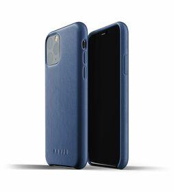 Mujjo Full Leather Case Etui Skórzane do iPhone 11 Pro (Monaco Blue)