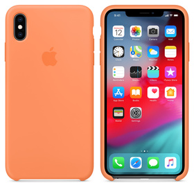 Apple Silicone Case Oryginalne Silikonowe Etui do iPhone Xs Max (Papaja)
