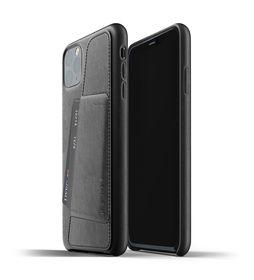 Mujjo Full Leather Wallet Case Etui Skórzane Na Karty do iPhone 11 Pro Max (Black)