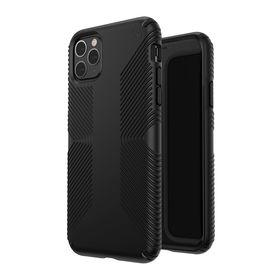 (EOL) Speck Presidio Grip Etui Ochronne do iPhone 11 Pro Max z Powłoką Microban (Black/Black)
