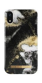 iDeal of Sweden Fashion Case Etui Obudowa do iPhone Xr (Black Galaxy Marble)